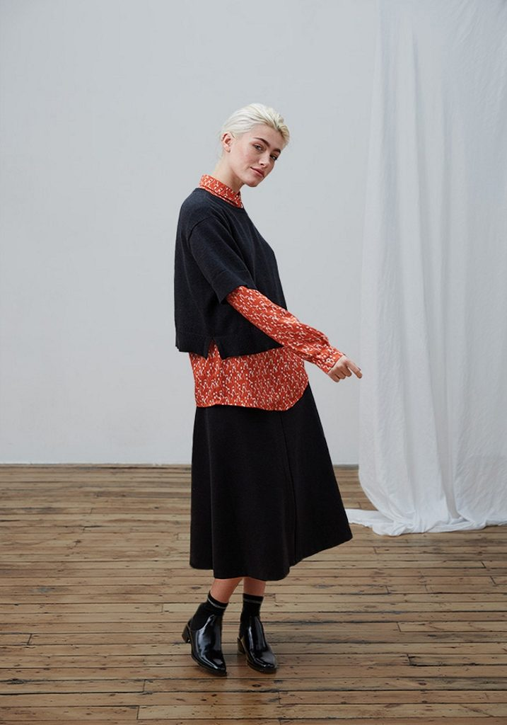Frieda Sand_AW18_Lookbook_Top Gloria_Blouse Arabella_Skirt Medea