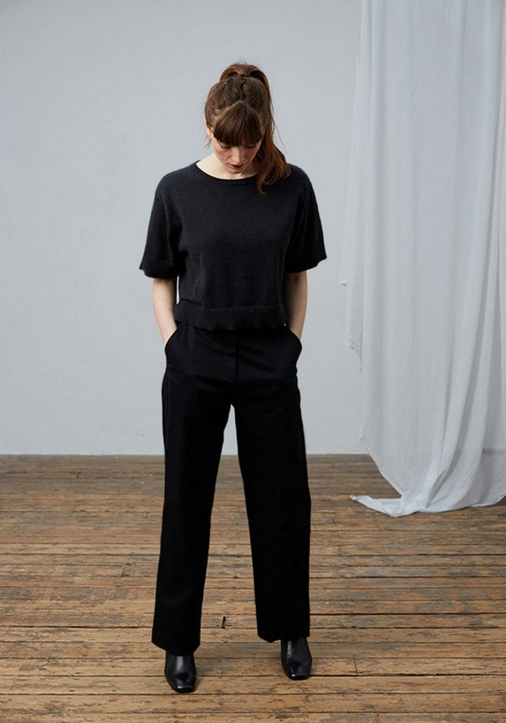 Frieda Sand_AW18 Lookbook_Short Sleeve Top Gloria_Trousers Inez